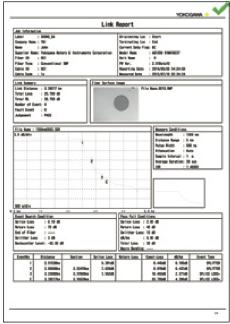 hỗ trợ xuất file báo cáo file PDF AQ7280
