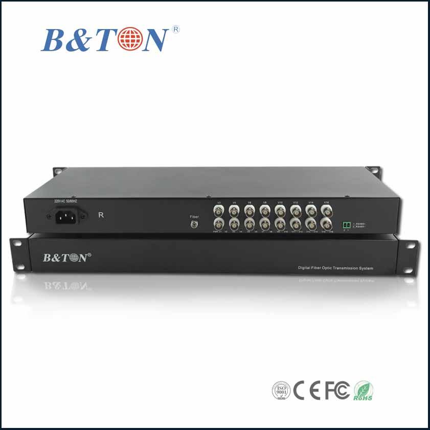 bộ thu phát 16 kênh video sang quang